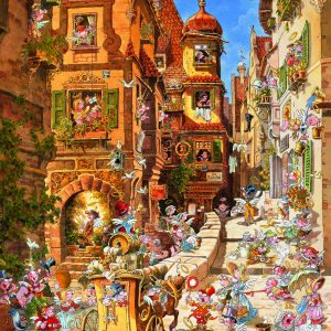 Puzzel Romantic Town Day 1000 Heye29874